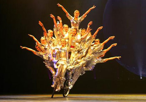 Acrobatics show at Tiandi Theater