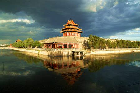 The northwest corner tower of Forbidden City